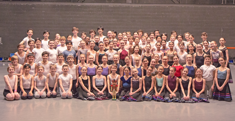Professional ballet program students in the nutcracker