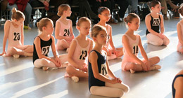 A wide range of students partake in a dance class.