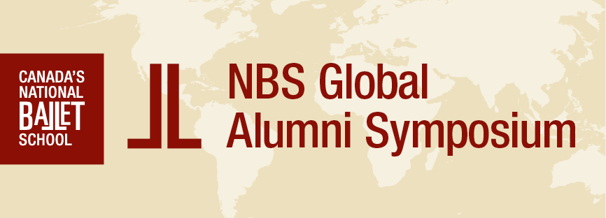 "Banner with the words ""NBS Global Alumni Symposium"""