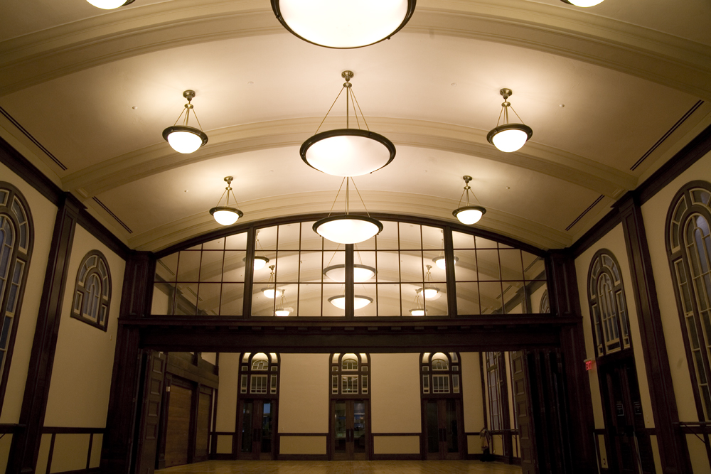 Interior of Currie Hall lobby