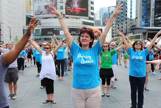 Dancers taking part in a public NBS Sharing Dance Day event in Toronto