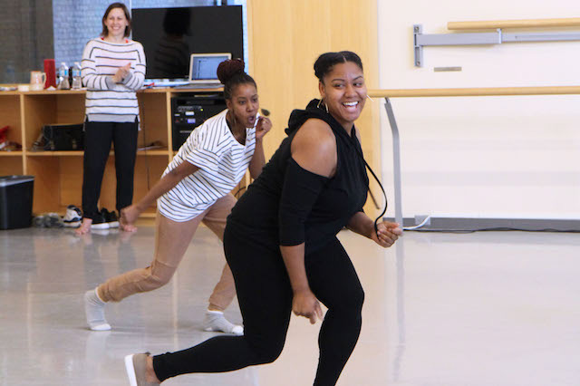 Young female dancers from North Preston, Nova Scotia, take part in a Sharing Dance: take the lead workshop at Canada's National Ballet School