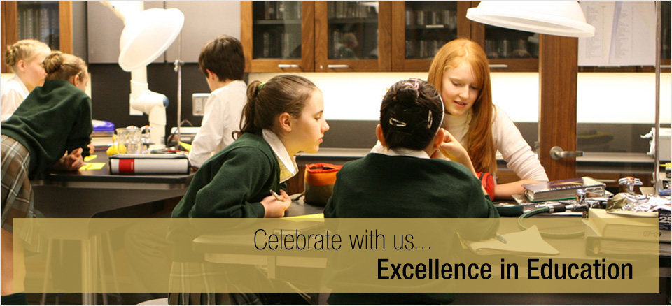 celebrate with us... Excellence in Education